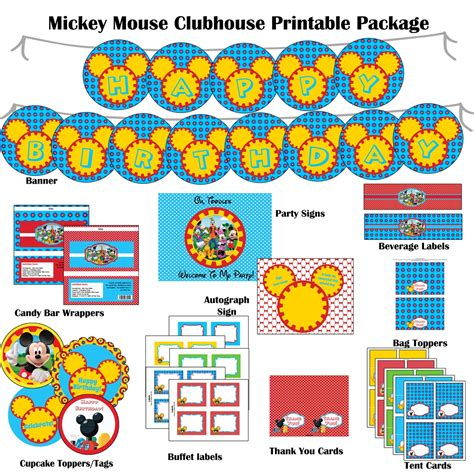 mickey mouse clubhouse printable birthday decorations 7 best images of mickey mouse clubhouse party printables