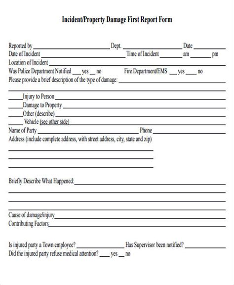 vehicle damage report form template damage report template 14 free word pdf format