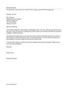 Legal Assistant Resume Cover Letter cover letter for legal assistant position legal assistant cover letter