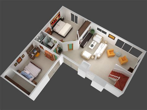 house planner 3d 3d mansion floor plans 3d plan view render of unit 5 jpg