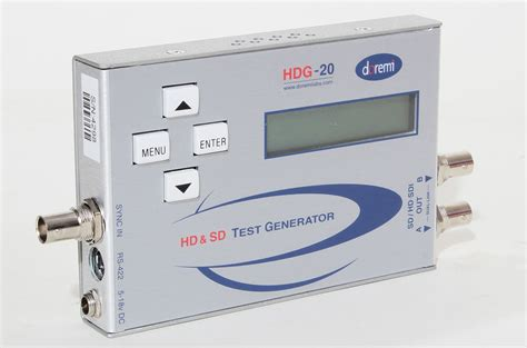 hd test pattern generator doremi hdg 20 hd test signal generator audio hd sdi test