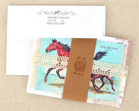how to package wedding invitations adam s vintage equestrian wedding invitations