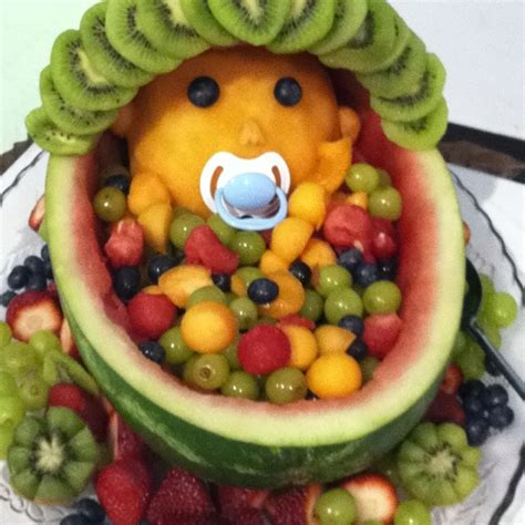 Fruit Baby For Baby Shower by Baby Shower Fruit Bowl Food Ideas