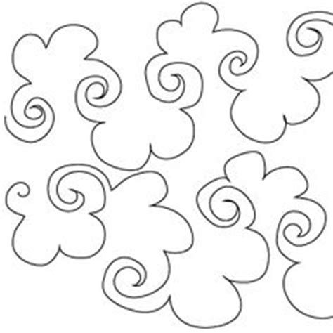 Free Motion Quilting Clouds by Groovy Board 10in Lofty Clouds Quilting Template