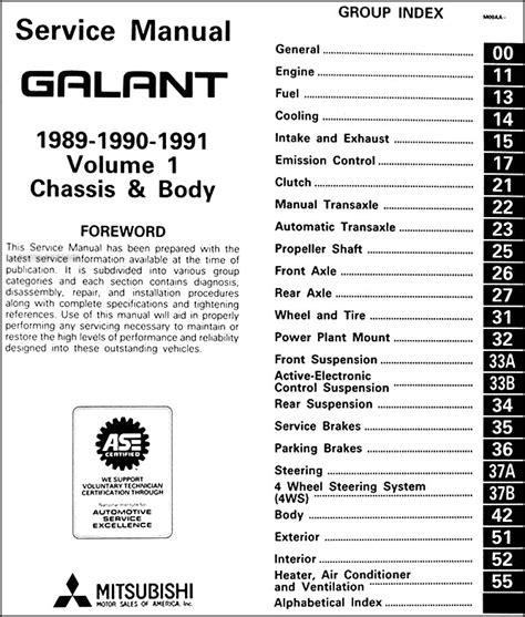 how to fix cars 1991 mitsubishi galant electronic toll collection 1989 1991 mitsubishi galant repair shop manual set original