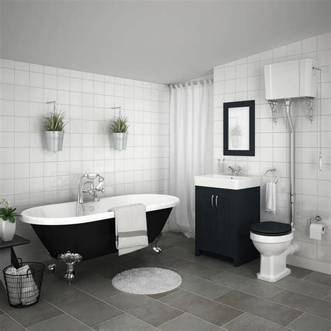 chatsworth high level graphite roll top bathroom suite
