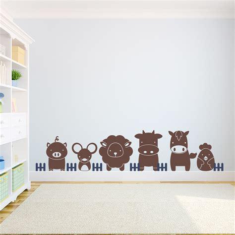farmyard wall stickers 28 farm animals wall stickers cd001 pvc removable farm animal wall stickers for farm