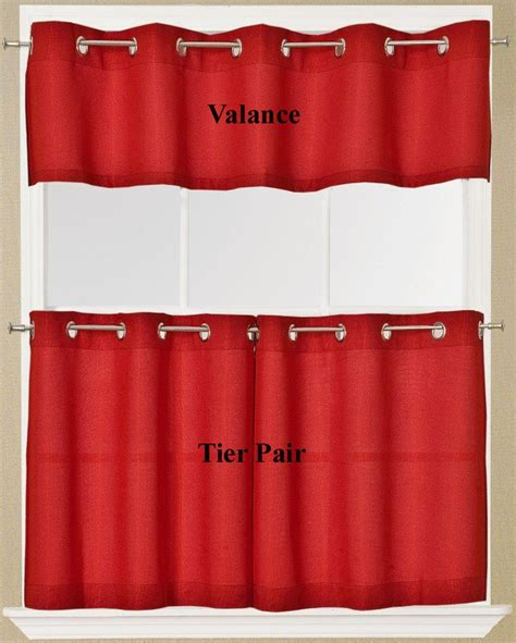 valance and tier curtains jackson grommet top valance and tier curtains