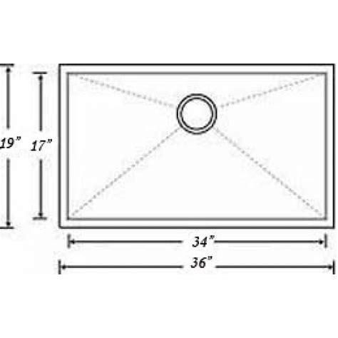 zero radius kitchen sink 36 inch stainless steel undermount single bowl kitchen