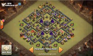 Town hall 9 war base layouts 2016 coc designs