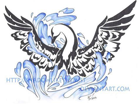tribal swan tattoo designs 25 best ideas about swan on swan