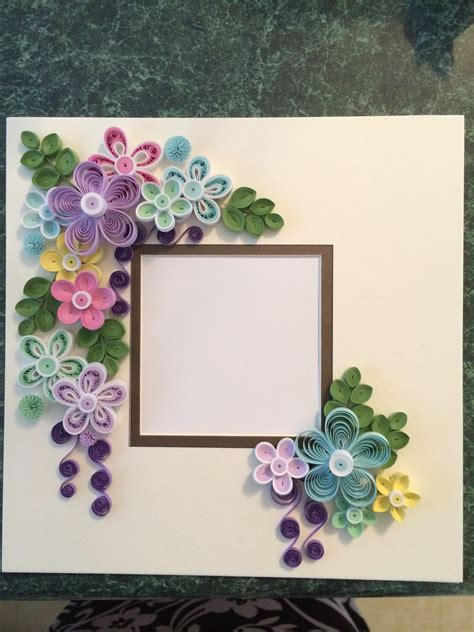 Paper Quilling Frame Tutorial | quilled frame for shadow box by ginny huff my quilled