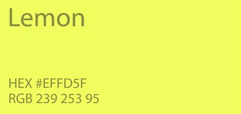 lemon color 24 shades of yellow color palette graf1x