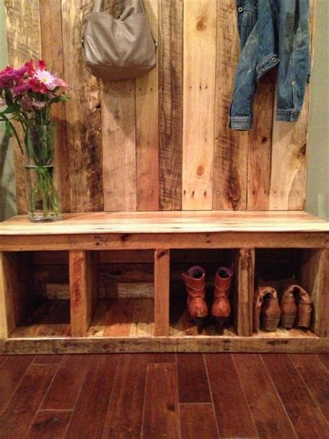Barn Plans Designs by Pallet Entryway Bench Storage Bench 101 Pallets