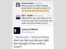 Kian Lawley Tweets About Acacia Clark