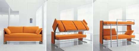 Transforming Sofa Bunk Bed Transformer Sofa That Morphs Into Bunk Bed