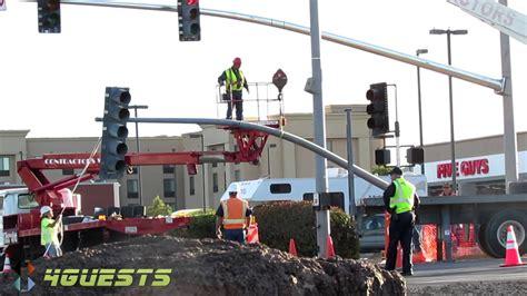how to report a broken street light street traffic signal light replacement youtube