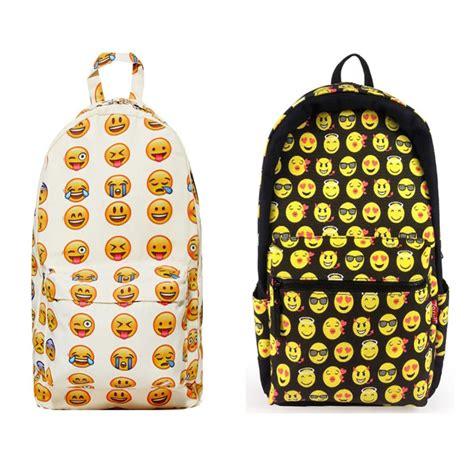 Tas Back Pack Emoji Q561t school book bag emoji day pack smiley backpack kid
