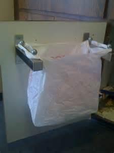 Kitchen Cabinet Trash Bin undersink rubbish bin like hanger thingy ikea hackers