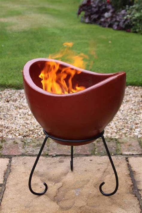 Nebulo Contemporary Clay Fire Bowl Fire Pit Savvysurf Co Uk Clay Firepit