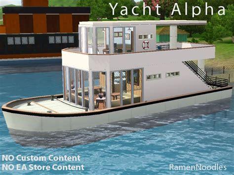 sims 3 house boats ramennoodles yacht alpha a houseboat