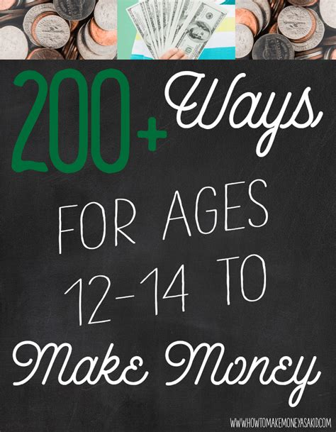 How To Make Money As A 12 Year Old Online - how to make money as a 12 13 and 14 year old howtomakemoneyasakid com