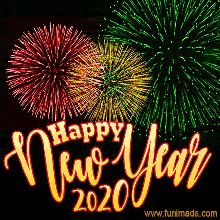 colorful fireworks happy  year  animated image  whatsapp   funimadacom