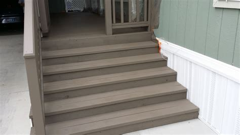 deck stairs painted mad dog deck primer base coat