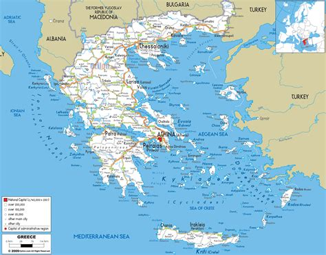 printable road map of greece large detailed road map of greece with all cities and