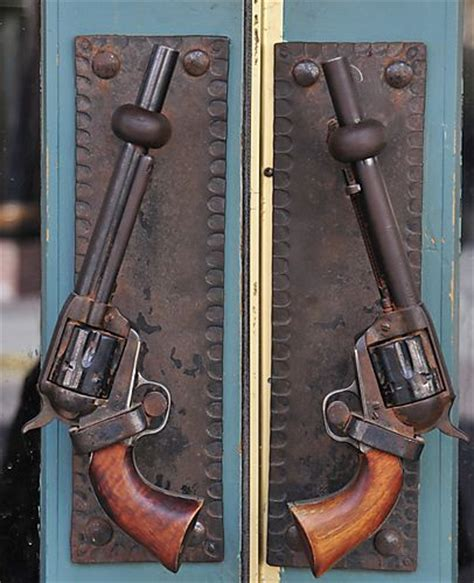 gun door handle guns as door handles cabins pinterest