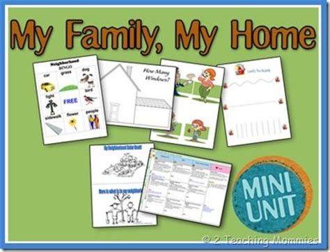 is my she teaches me at home books my family my home unit family spelling family size