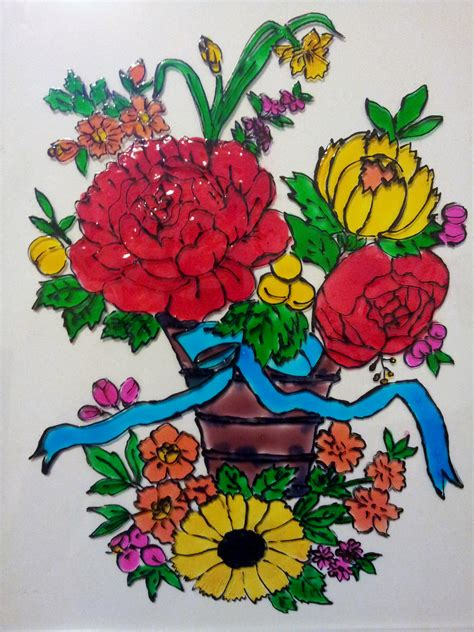 flower design for glass painting floral glass painting life in minutes