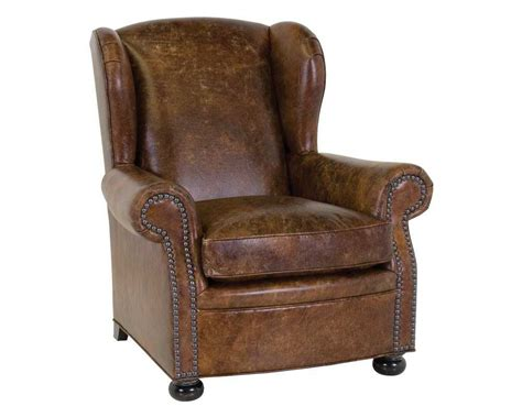 leather cigar chair recliner classic leather cigar club chair cl117761