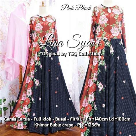 Maxi Misbee 4 baju gamis misbi lina syari busana muslim motif bunga