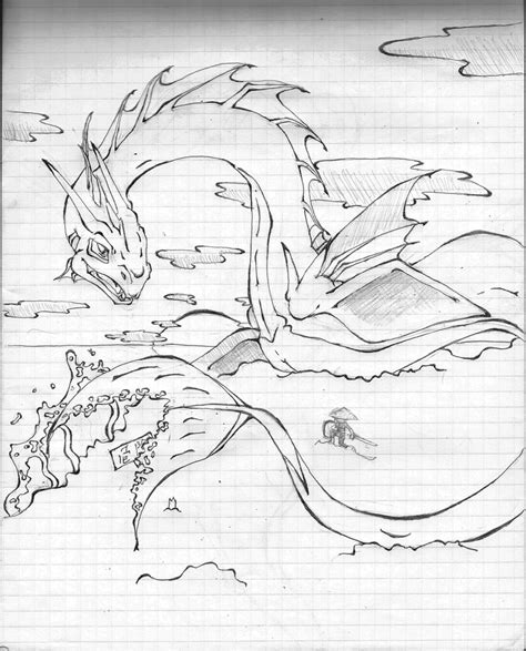 how to draw sea serpents