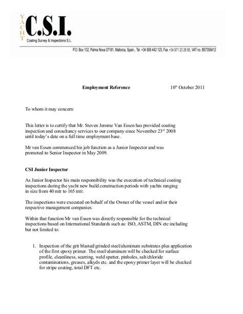Reference Letter From Employer To Whom It May Concern To Whom It May Concern