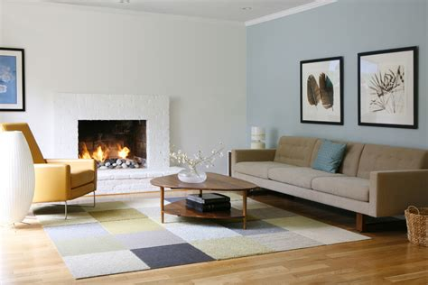 mid century modern rugs Living Room Modern with angular exposed beams glass   beeyoutifullife.com