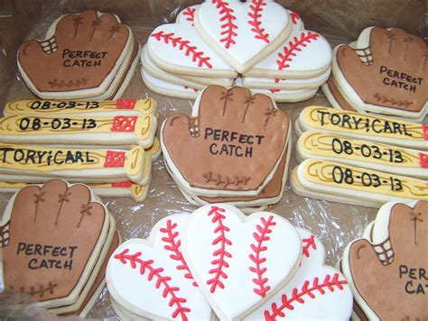 baseball themed bridal shower cookies last swing before the ring baseb