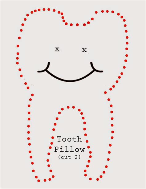 Tooth Pillow Template janijo tooth pillow
