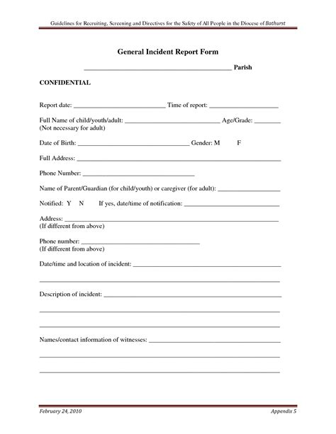 Incident Report Template by General Incident Report Form Designed By Vdq65279 Helloalive