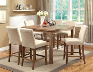 Cm3555t 48 sorrel ii counter height dining 7pc set in rustic oak fads