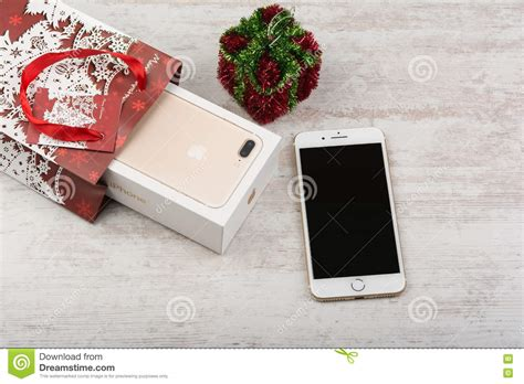 Gift Card Iphone 7 - burgas bulgaria october 22 2016 new apple iphone 7 plus gold on white background