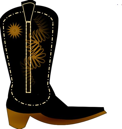 cowboy boot clipart black cowboy boot clip at clker vector clip