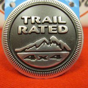 Jeep Trail Badges Jeep Trail 4x4 Badge Nameplate Emblem New Mopar Ebay