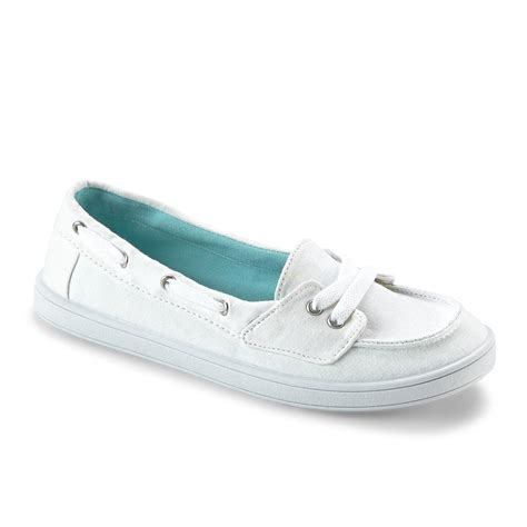 canvas boat shoes womens dream out loud by selena gomez women s caley white canvas