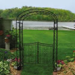Iron Trellis Arch Austram Royal Garden 7 5 Ft Iron Arch Arbor With Gate