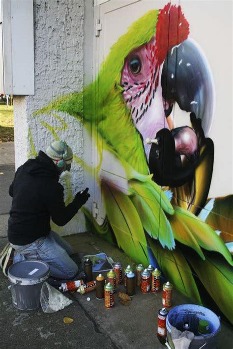 kinderzimmer bild papagei airbrush wandgestaltung und airbrush wandbemalungen