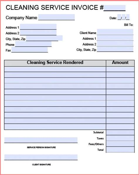 Cleaning Invoice Template by Carpet Cleaning Invoice Studio Design Gallery Best