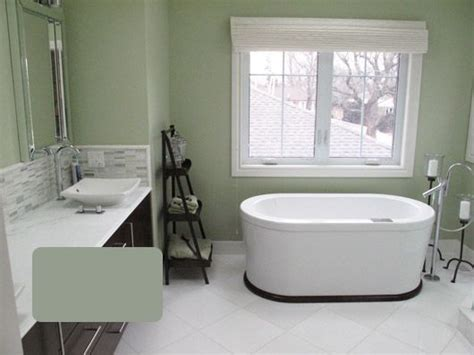 serene bathroom colors banheiras bathtub dark wood house and tile