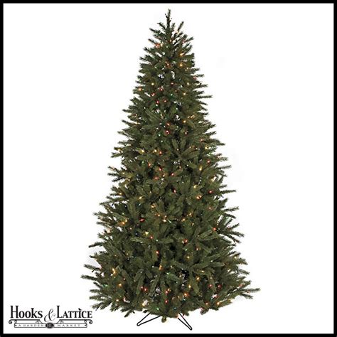 7 5 ft eastern pre lit fir artificial christmas tree w